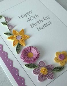 Quilled th birthday card paper quilling th st th also rh pinterest