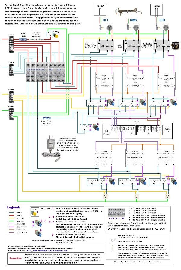 Help With Schematics For Herms Electric BCS 460 2 Element Brewing