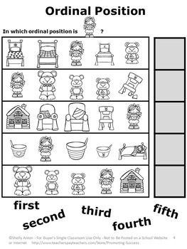 1st Grade » Goldilocks And The Three Bears Worksheets 1st