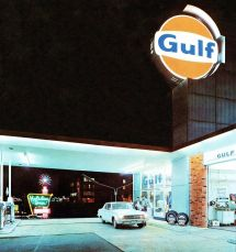 Gulf Gas Station Signs