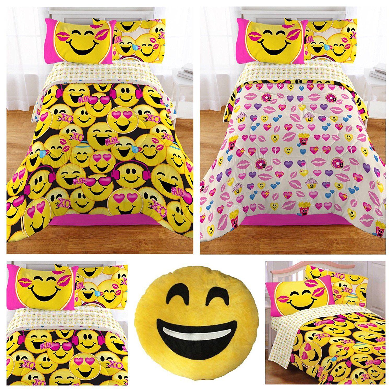 Emoji Complete 5 Piece Girls Bedding Set