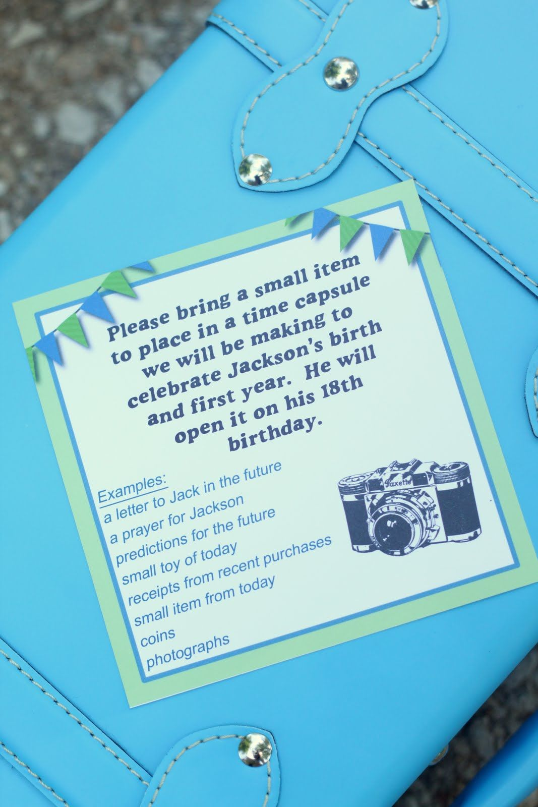 Time Capsule Keepsake Baby Shower Party Theme Idea So Cute Get A Decorative Baby Time Capsule