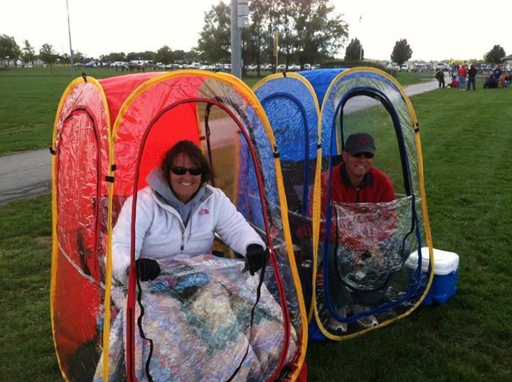 """Called """"Under the Weather""""... a portable """"tent"""" that pops"""