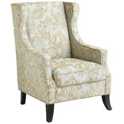 Alec Wing Chair Slim Reclining Chairs Blue Floral Living Rooms Room And Bedrooms