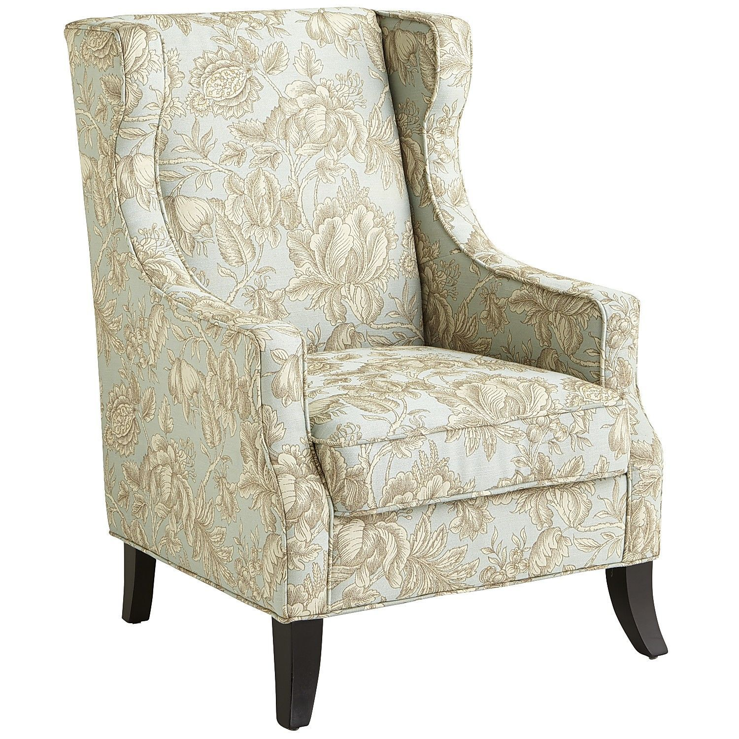 Floral Wingback Chair Alec Blue Floral Wing Chair Living Rooms Room And Bedrooms