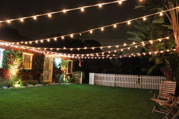 Back Yard String Light Ideas