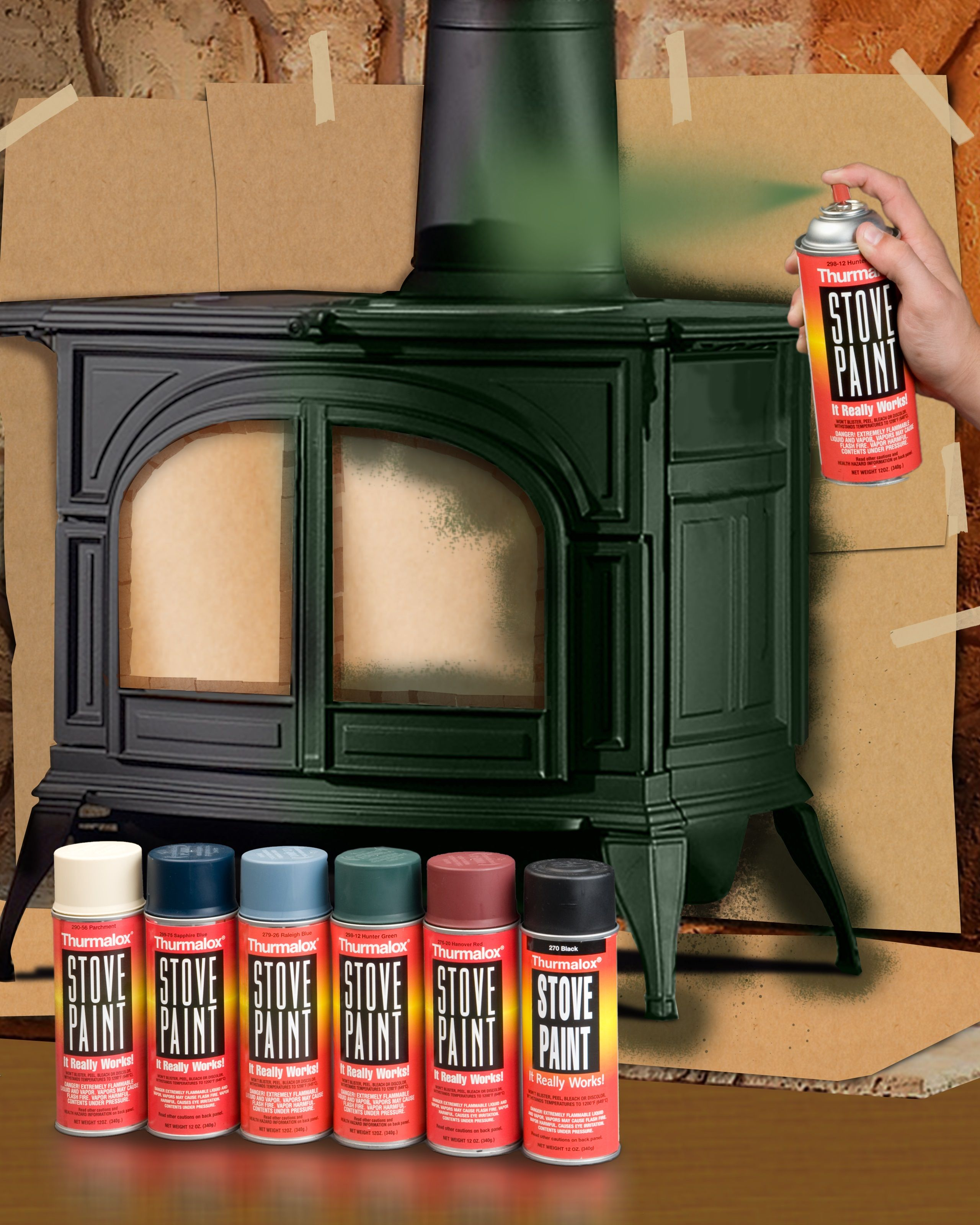 High Heat Paint For Wood And Coal Burning Stoves