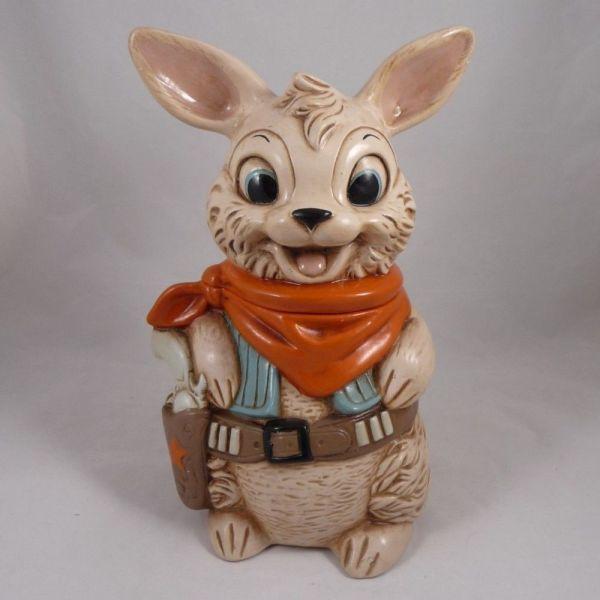 Twin Winton Gunslinger Rabbit Sheriff Cookie Jar ''