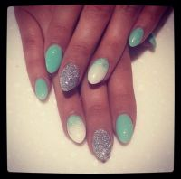 Acrylic almond ombre nails. Perfect for summer!   Nails ...