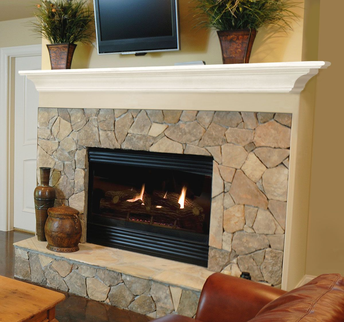 Pearl Mantels 618 Crestwood MDF Fireplace Mantel Shelf