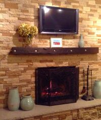 Our AirStone fireplace project. We love it. Covered ...