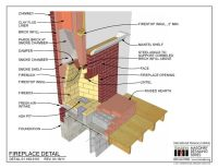 01.160.0101: Fireplace Detail | Tech drawings | Pinterest ...