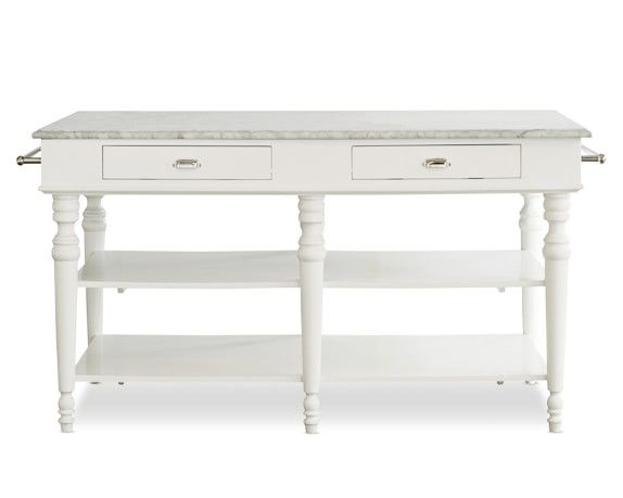 Larkspur Marble Top Kitchen Island Williams Sonoma Let's Go