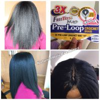 Pre loop crochet braids yaki hair straight | My work ...