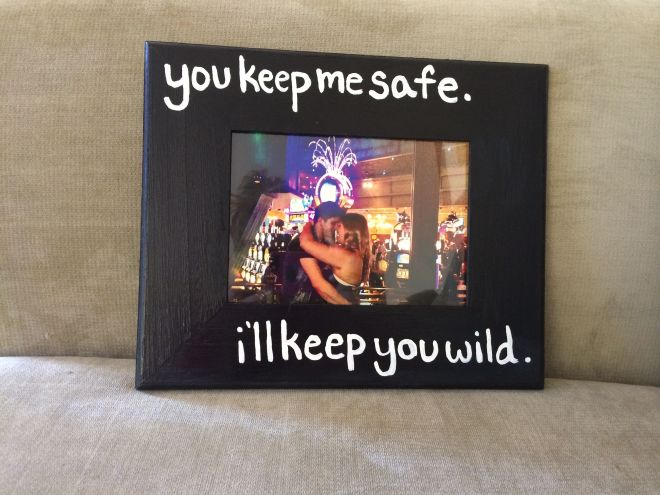Diy picture frame i made for my boyfriend diy