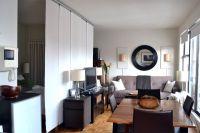 450 ft2 NYC studio: IKEA Kvartal hanging room divider