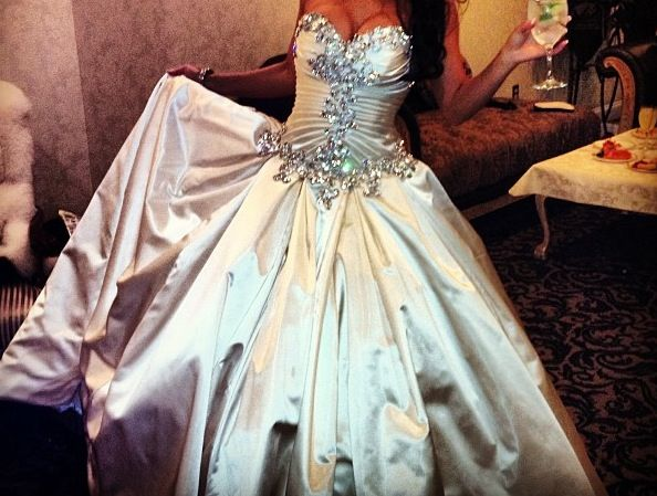 Pnina Tornai Sweetheart Ball Gown In Satin. I Know It's