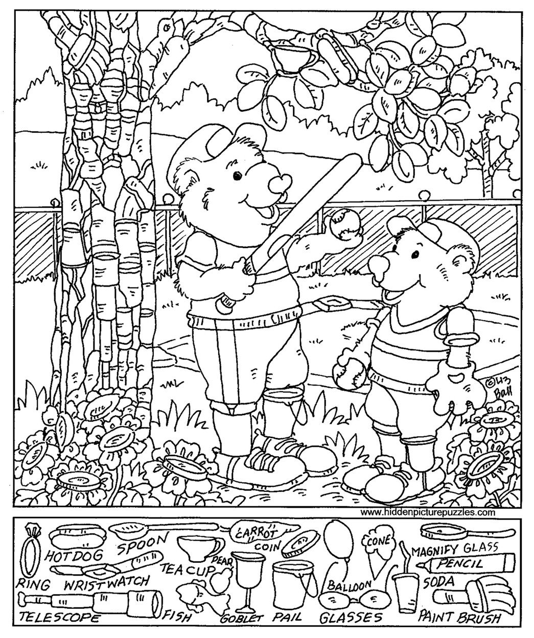 Hidden Picture Worksheet Harvest