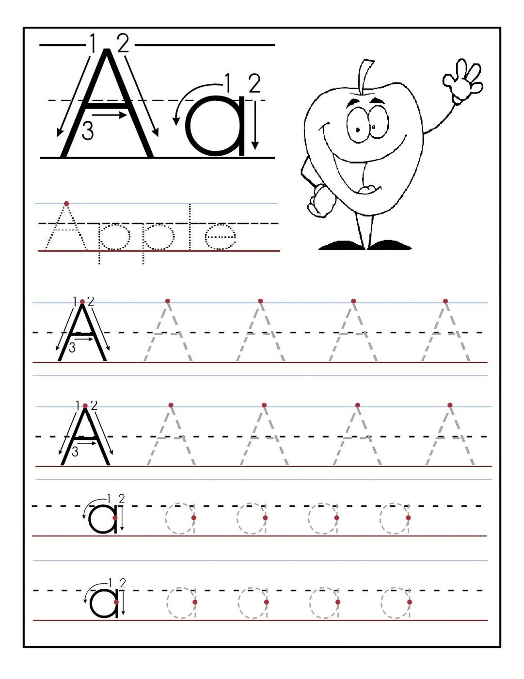 Free Alphabet Tracing And Coloring Pages