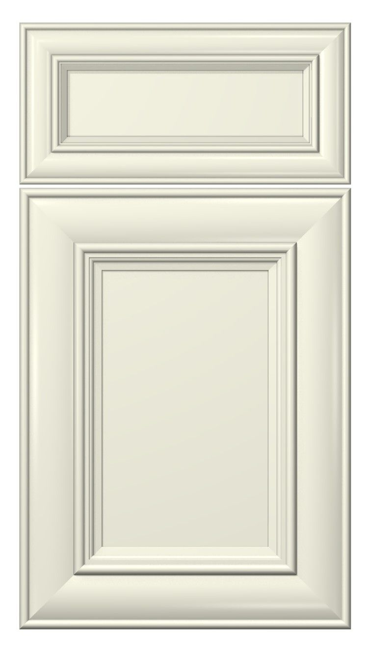classic door style  painted  antique white kitchen