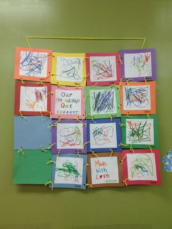Friendship Quilt Craft for Preschoolers