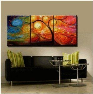 Colorful abstract painting decoration unstretch also rh pinterest