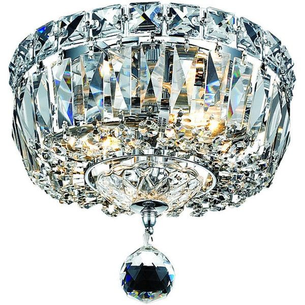 Somette Chrome 2 Light Chandelier