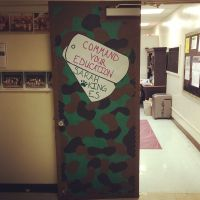 Army themed classroom door | DIY | Pinterest | Classroom ...
