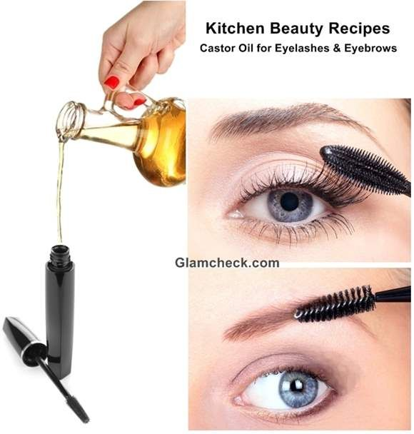 Kitchen Beauty Recipes  Castor Oil for Eyelashes and Eyebrows  Makeup  Beauty Tips