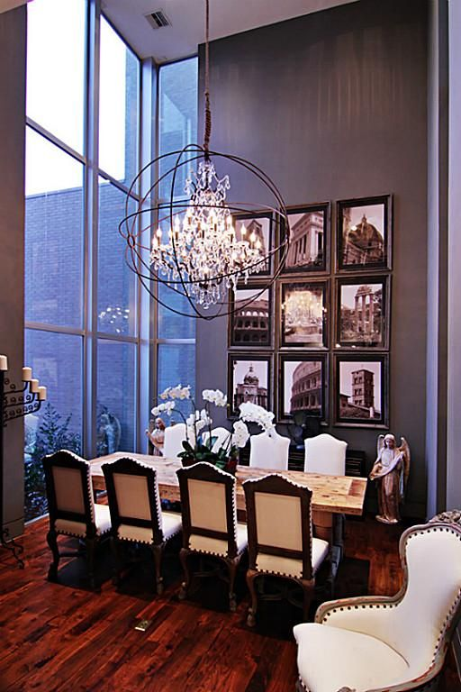 Formal Dining Room Exhibits High Ceilings Floor To Ceiling Windows For Natural Light Custom