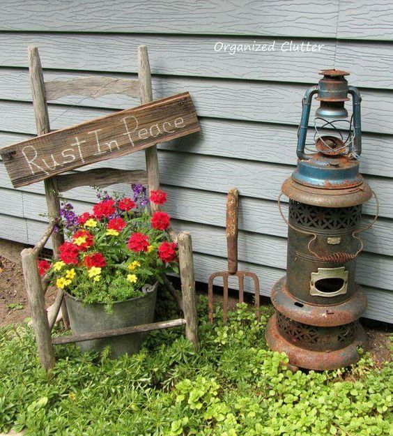 Really Inspiring Repurposing Ideas For Vintage Garden Decorations