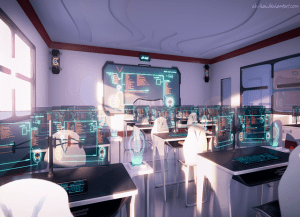 anime classroom background novel scenery visual future modern sci backgrounds fi episode paisajes fantasy dream cenarios digitais fundo para dibujos