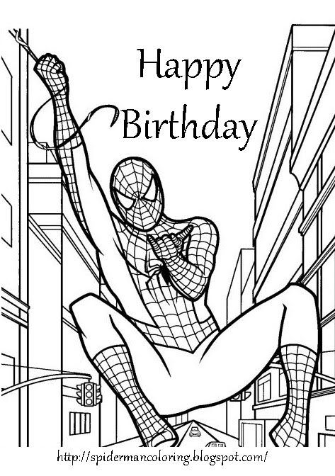 SPIDERMAN COLORING: SPIDERMAN PRINT AND COLOUR