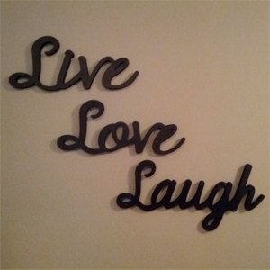 Live Love Laugh Wooden Letters Handcrafted Home Wooden Walls