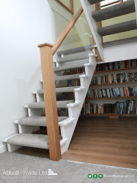 Open tread cut-string staircase renovation   Flipper ...