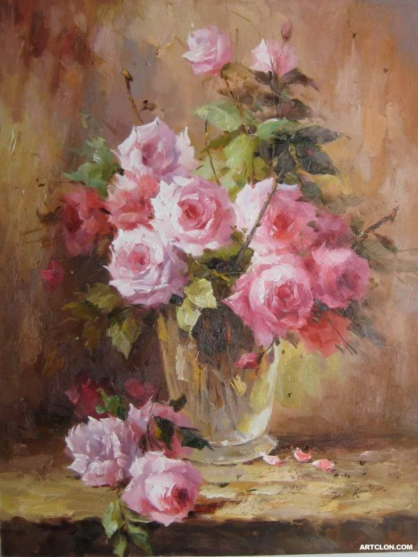 Loose Oil Flower Paintings