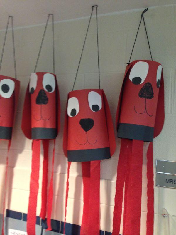 Clifford-clifford Windsock Craft Alphabet Crafts Preschool Art