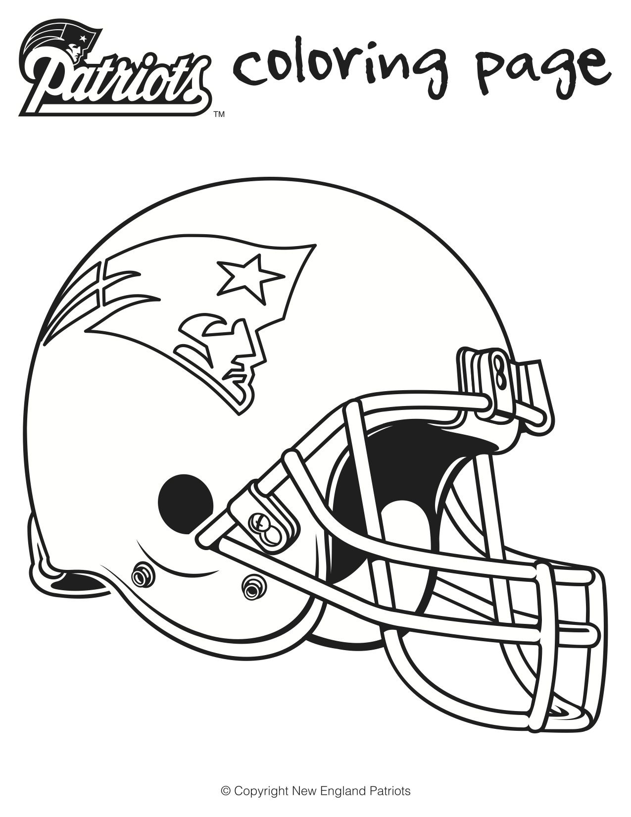Here Are Is A Printable Patriots Football Coloring Sheets