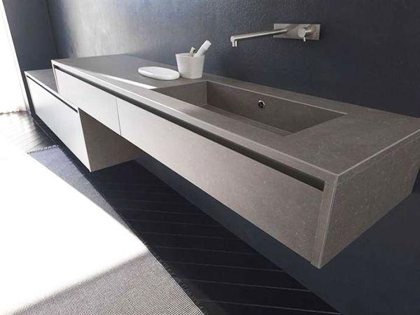 Grs porcellanato per arredo bagno Mobile rivestito in Kerlite by Modulnova Bagni  Waschtisch