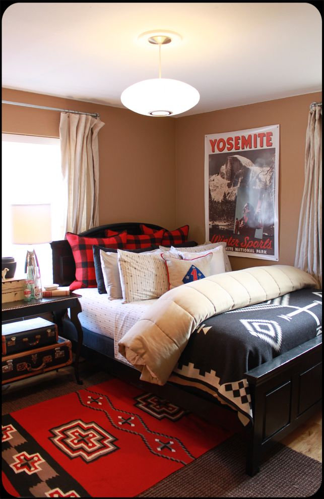 great boys bedroom lots of cool elements  Bedroom