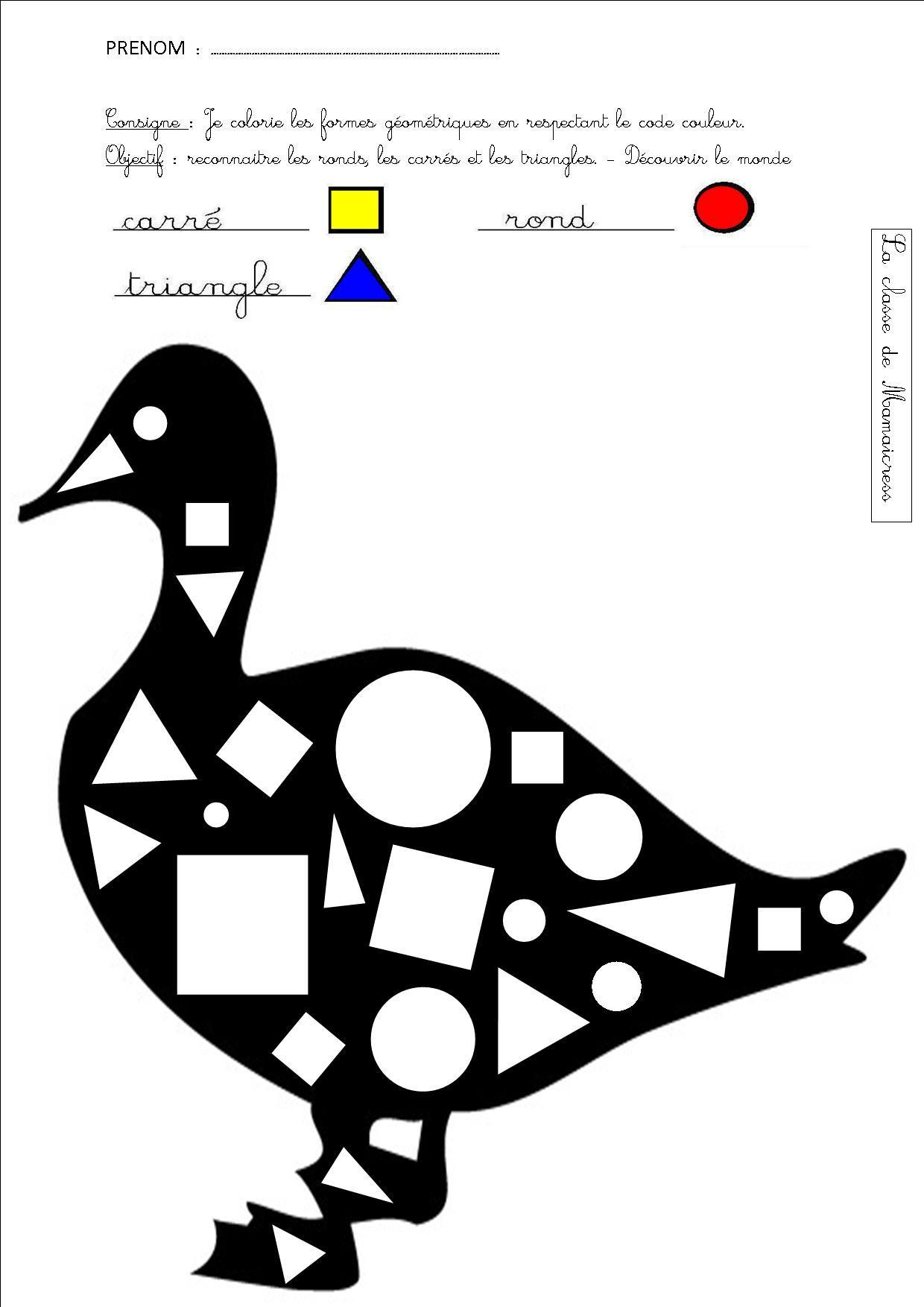 Voici Des Fiches Et Un Jeu Pour Reconnaitre Des Formes Geometriques Triangle