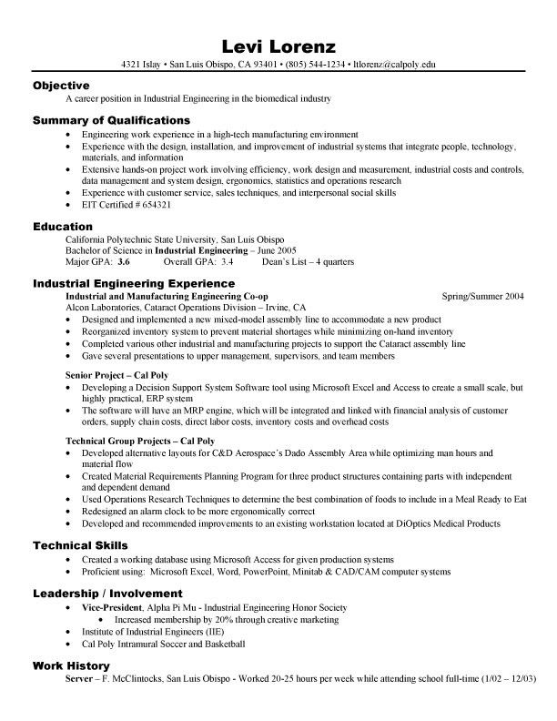 Engineer Resume Example - Examples of Resumes - software engineer resume objective examples