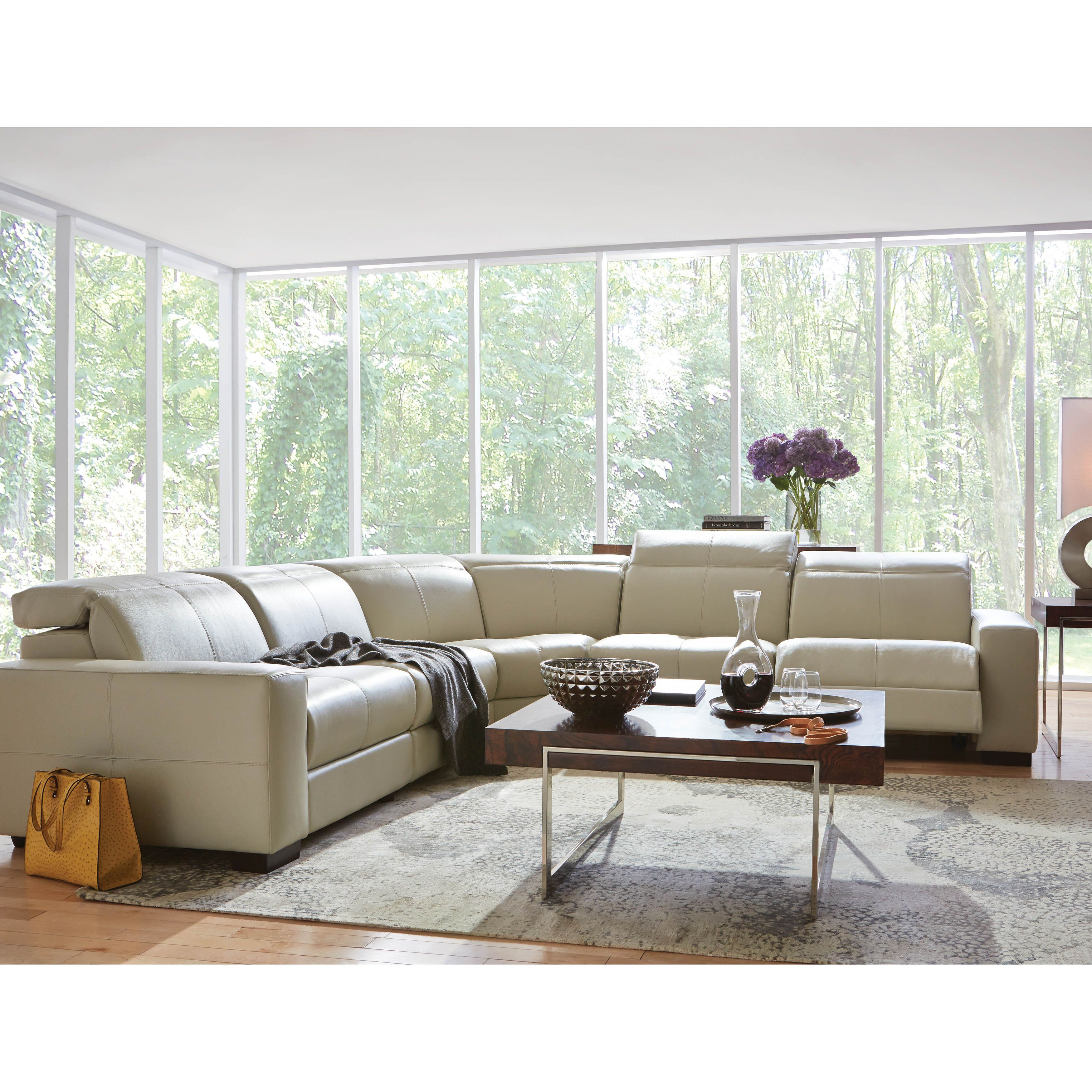 how to deep clean white leather sofa light blue bed cool contemporary and it reclines the gianna