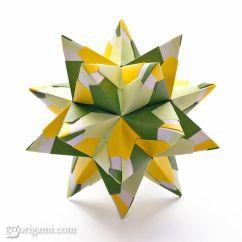Kusudama Ball Diagram 2005 Toyota Tacoma Parts Chandelle Origami Star Tutorial. | Diy Inspiration Pinterest Best Stars ...