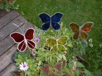 Stained Glass for Garden Decoration | Glass garden, Glass ...