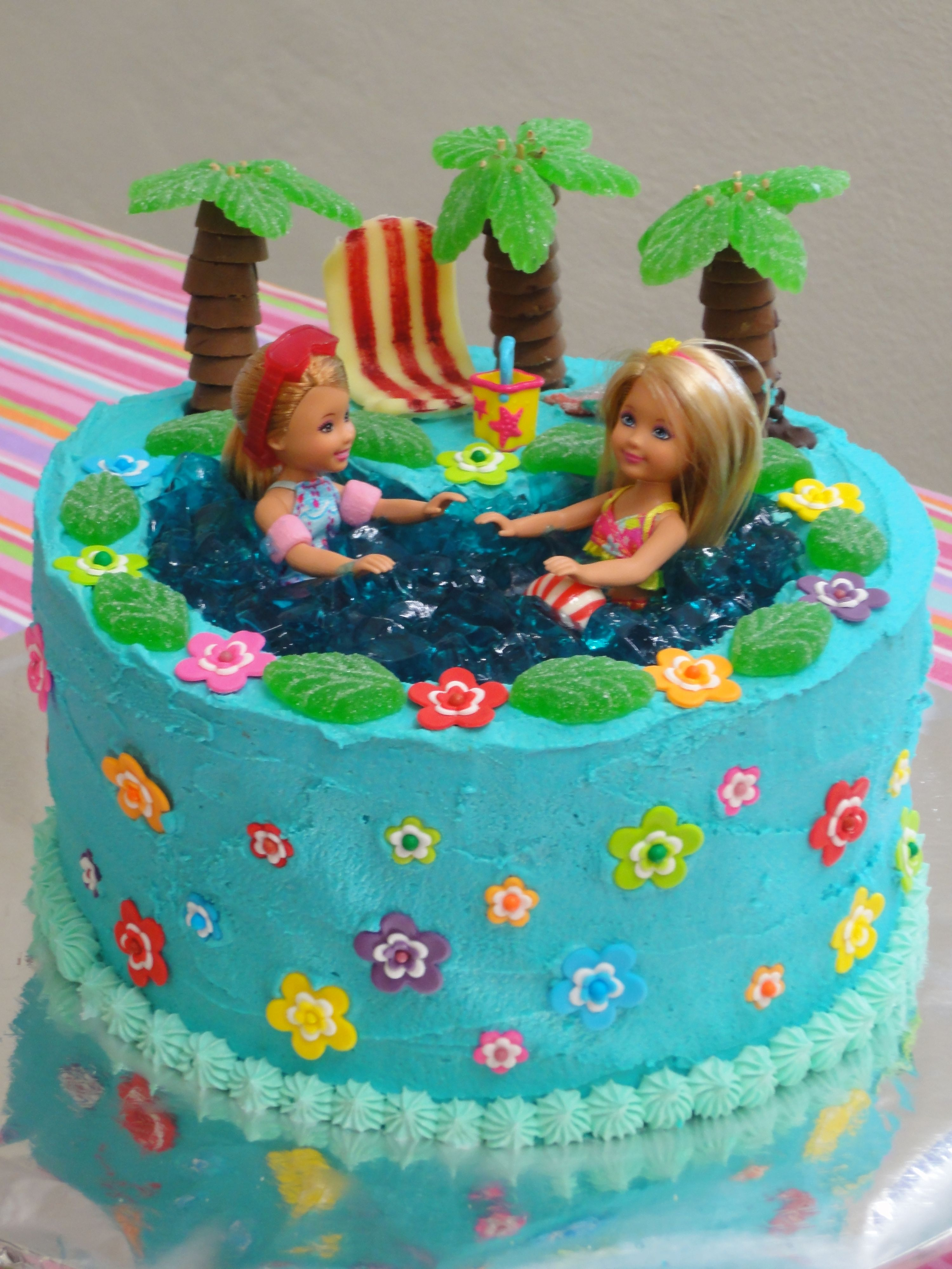 Barbie Pool Party Birthday Cake Made By Me