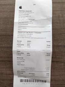 Apple Store iPhone Receipt