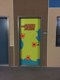 Halloween college dorm door decorations - The Mystery ...