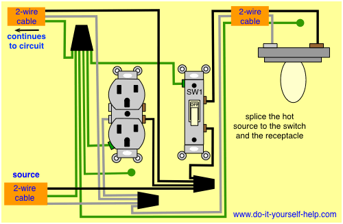 Wiring Diagram For A Switch Light Receptacle – Readingrat Net