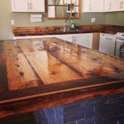 Best Material For Kitchen Countertops Eco Friendly Cabinets Diy Rustic Barn Board House Ideas